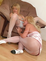 These lesbian pantymoms sure have a good time - Girdles Granny