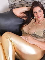 Huge breasted British housewife getting wet and wild